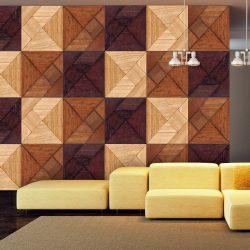 Fotótapéta - Wooden mosaic