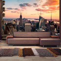 Fotótapéta - New York: The skyscrapers and sunset  -  ajandekpont.hu