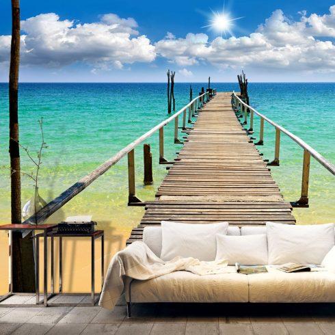 Fotótapéta - Beach, sun, bridge  -  ajandekpont.hu