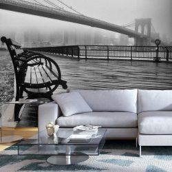 Fotótapéta - A Foggy Day on the Brooklyn Bridge|New York - ajandekpont.hu