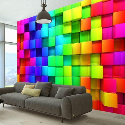 Fotótapéta  -  Colourful Cubes - ajandekpont.hu