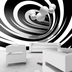 Fotótapéta - Twisted In Black & White