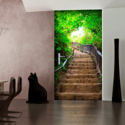 Ajtóposzter - Photo wallpaper – Stairs from nature I