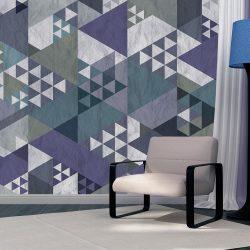 Fotótapéta - Blue patchwork  50 x1000 cm
