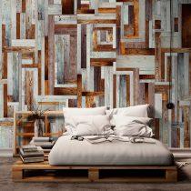 Fotótapéta - Labyrinth of wooden planks  50 x1000 cm