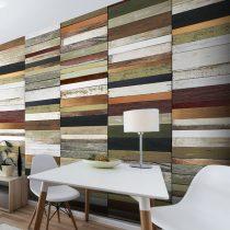 Fotótapéta - Rainbow-colored wood tones  50 x1000 cm