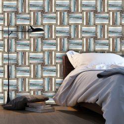 Fotótapéta - Wooden weave of colors  50 x1000 cm