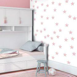 Fotótapéta - Pink Stars  50 x1000 cm