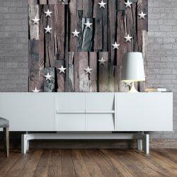 Fotótapéta - Stars on Wood  50 x1000 cm