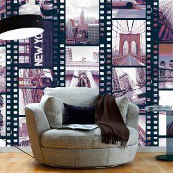 Fotótapéta - NY - Urban Collage  50 x1000 cm