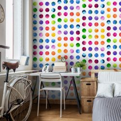 Fotótapéta - Colourful Dots  50 x1000 cm