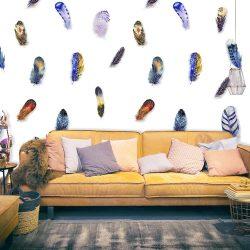 Fotótapéta - Colorful Feathers  50 x1000 cm